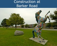 Construction at Barker Road
